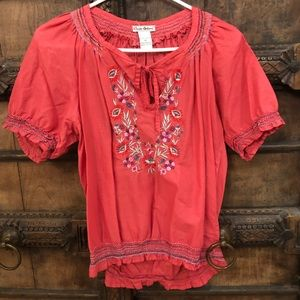 🌸Vici Embroidered Pink Top✨